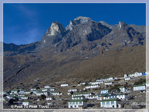 Khumjung Village and Mt. Khumbi Hul Lha